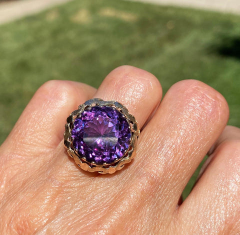 14K Color Change Sapphire Cocktail Ring
