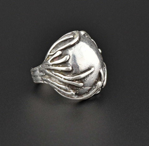 Sterling Silver Dome Organic Statement Ring