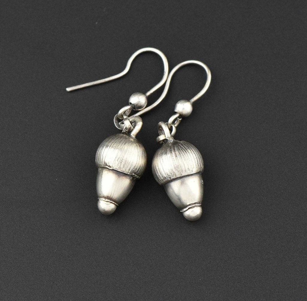 Vintage Silver Acorn Earrings - Boylerpf