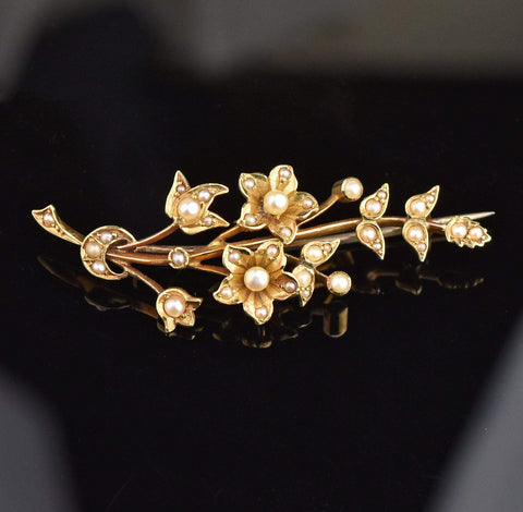 Vintage Diamond Paste Bow Brooch Pin