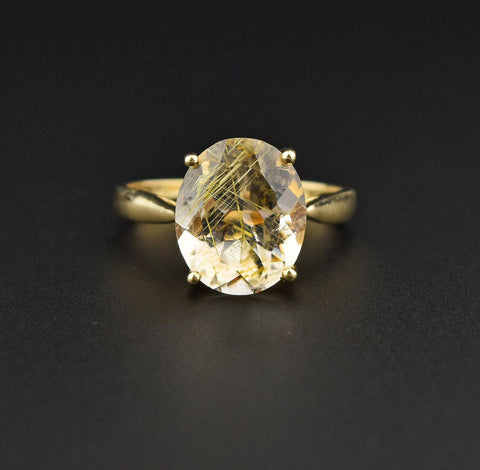 Vintage Estate Sterling Silver Smoky Quartz Ring