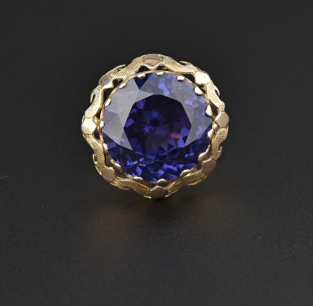 14K Color Change Sapphire Cocktail Ring - Boylerpf