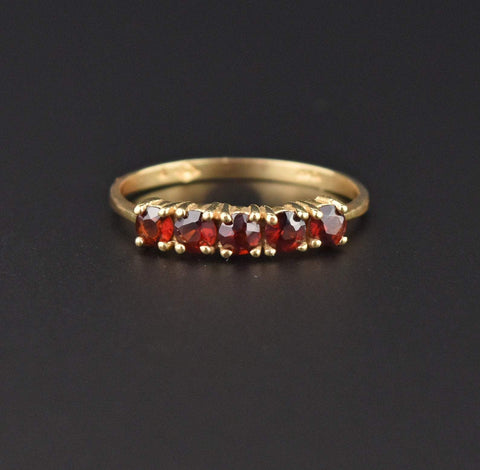 14K Gold Vintage Smoky Quartz Ring