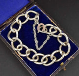 Sterling Silver Large Link English Curb Chain Bracelet - Boylerpf