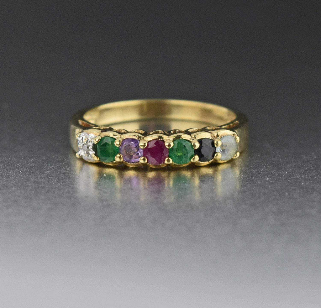 MULTI GEMSTONE DEAREST ACROSTIC RING - Boylerpf
