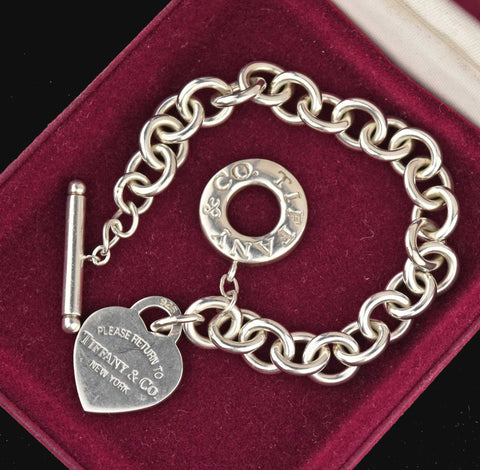 Return to Tiffany Silver Toggle Charm Bracelet