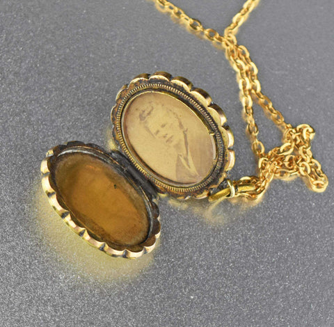 Vintage Gold Filled Victorian Photo Locket