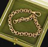 Vintage Gold Filled Engraved Circle Watch Chain Bracelet - Boylerpf