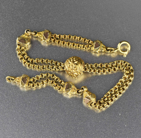 Vintage 14K Gold Filled Albertina Watch Chain Bracelet