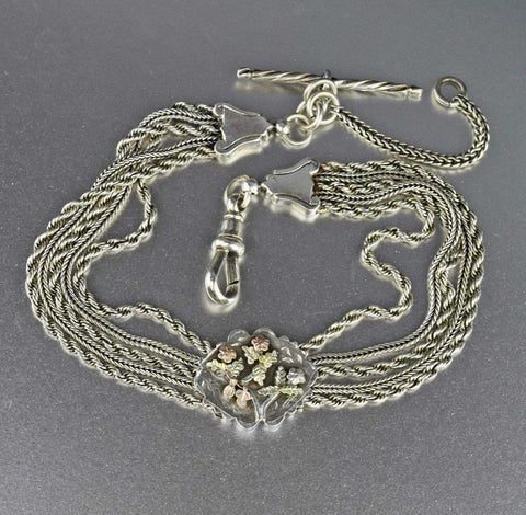 Victorian  Sterling Silver Albertina Watch Chain Bracelet