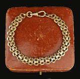 Edwardian Rose Rolled Gold Watch Chain Bracelet - Boylerpf