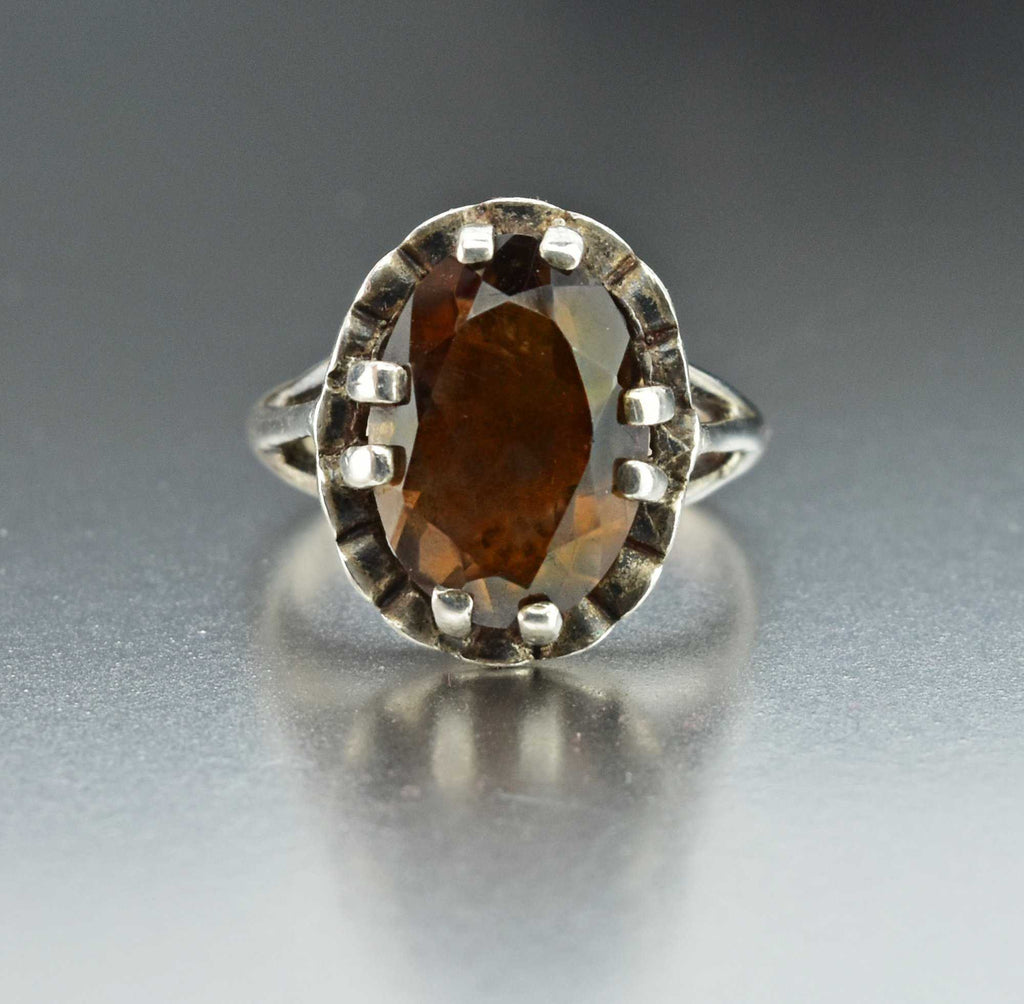 Sterling Silver Smoky Quartz Ring - Boylerpf