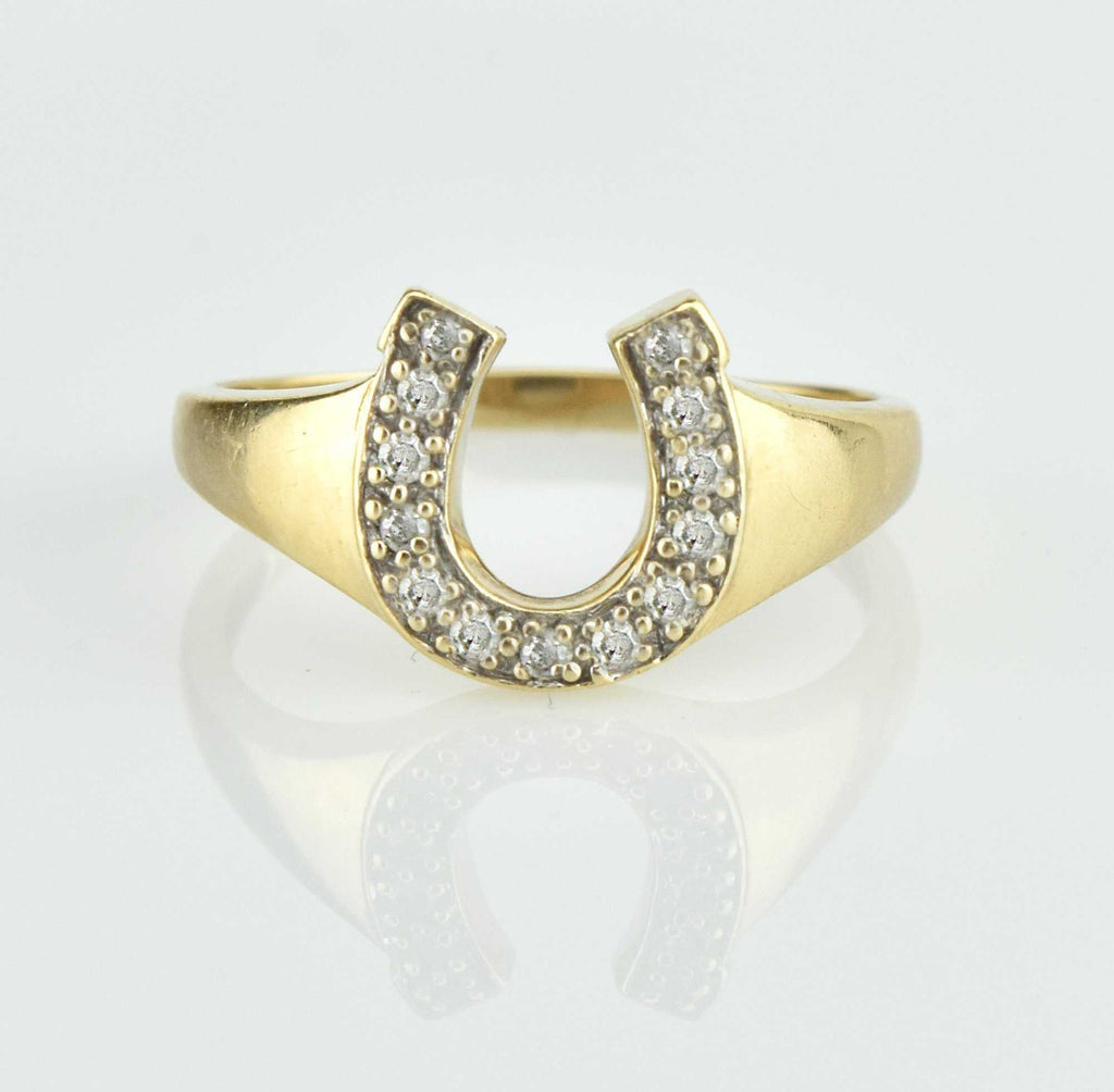 Vintage Diamond Horseshoe Ring - Boylerpf