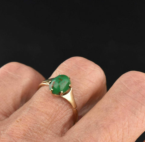Art Deco Gold Bloodstone Ring