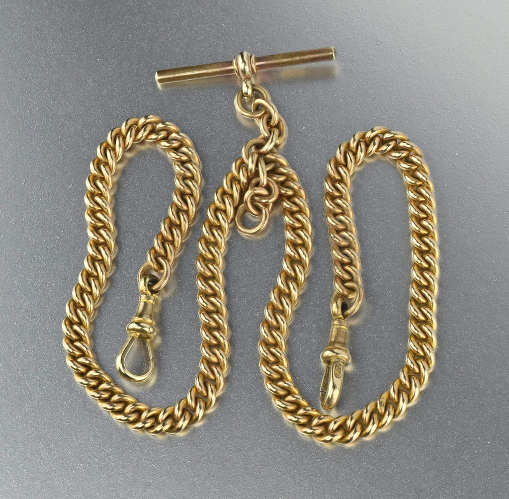 Antique 14K Pocket Watch Chain Necklace - Boylerpf