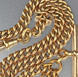 Antique Pocket Watch Chain Necklace 18K Gold Filled - Boylerpf