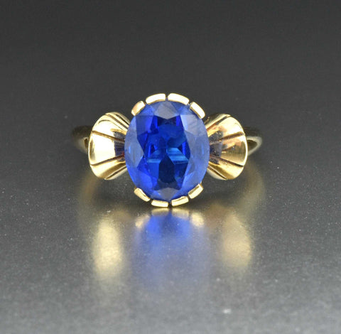 14K GoldPurple Color Change Sapphire Ring 1950s