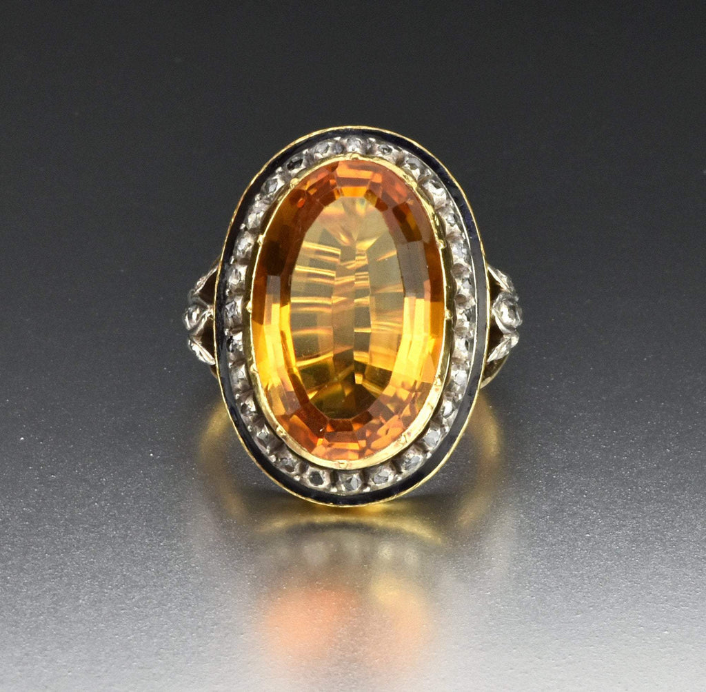 2nd Payment 18K Gold Citrine Diamond Cluster Halo Ring ON HOLD - Boylerpf