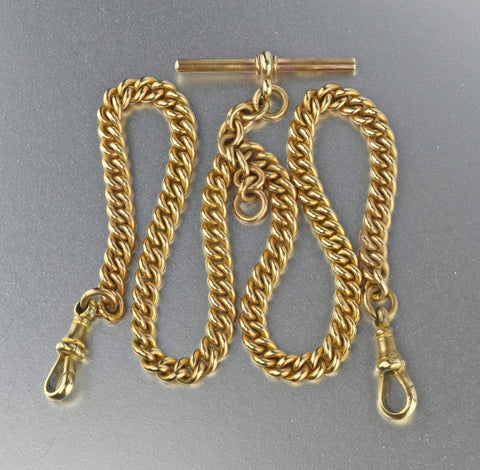 Antique 14K Pocket Watch Chain Necklace