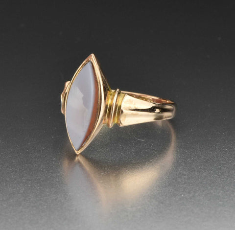 "Art Deco Gold Initial ""N"" Signet Ring"