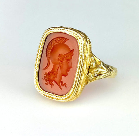 Vintage Silver Russian Baltic Amber Ring