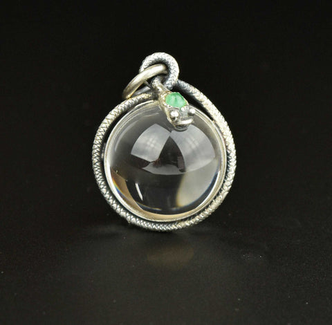 Victorian Sterling Silver Engraved Locket Pendant