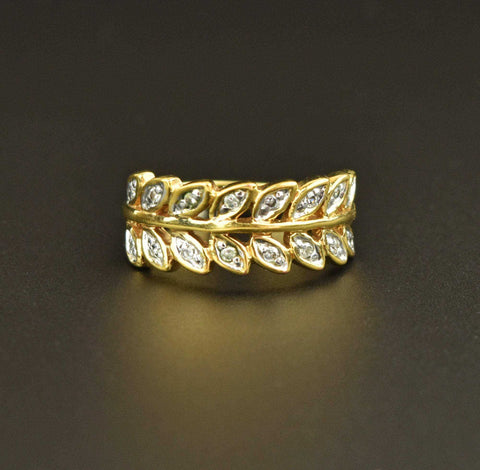 14K Solid Gold Vintage Citrine Ring 9.5 CTW
