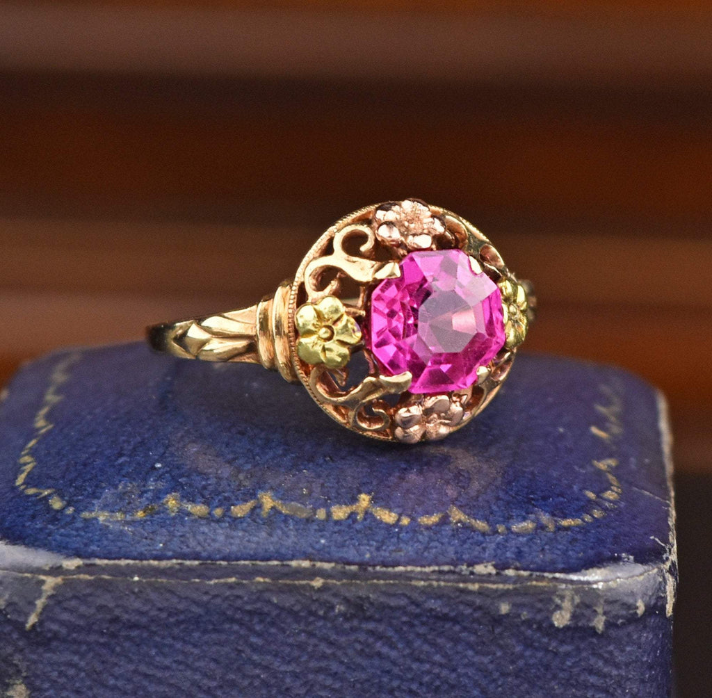 10K Gold Vintage Ruby Ring - Boylerpf