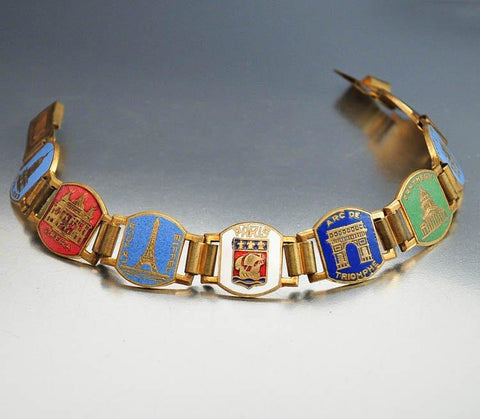 Topaz Glass Enamel Czech Art Deco Necklace