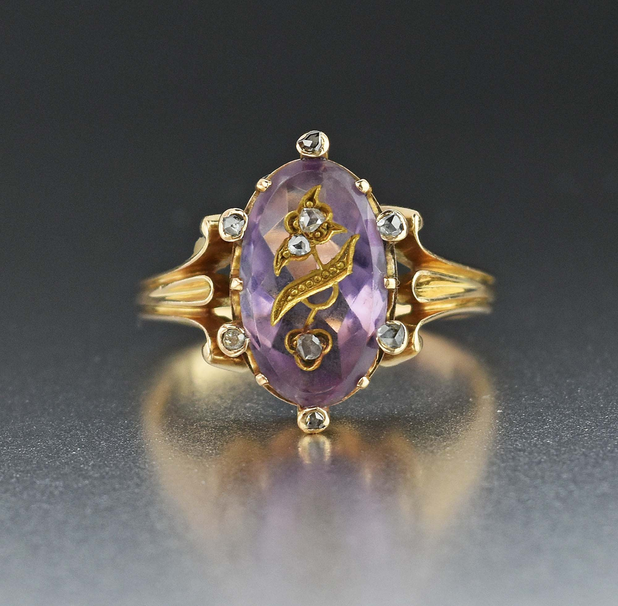 VICTORIAN DIAMONDS ENAMEL & GOLD