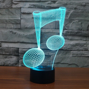 Music Note 3D  Night Light