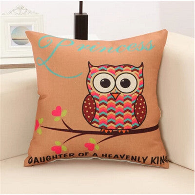 Lovely Owls Pillow Cover
