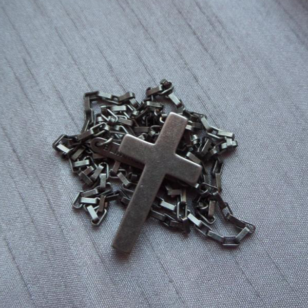 Stainless Steel Link Chain Cross Necklace