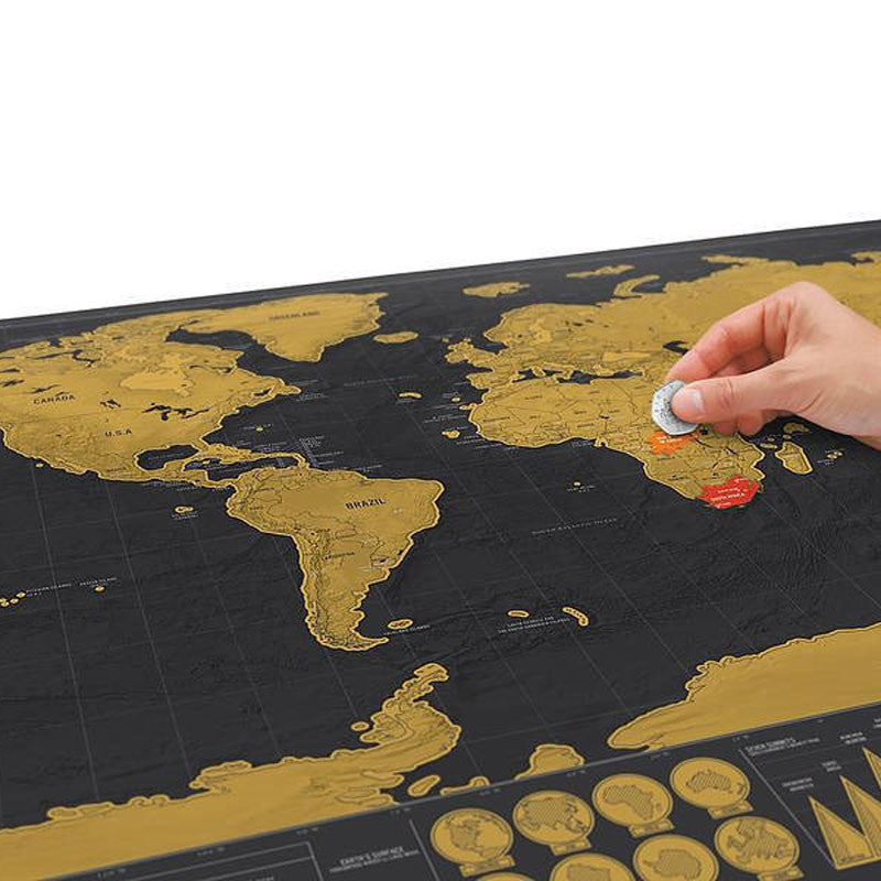 Perfect Map to Scratch - Scratch Wanderlust Poster Map