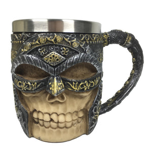 Viking Tankard Skull Warrior Mug