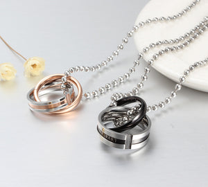 Endless love couple necklaces  - Stainless Steel