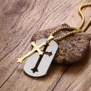 Punk Removable Cross Necklace