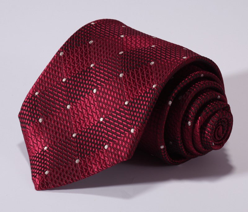 Red Check Tie and Handkerchief