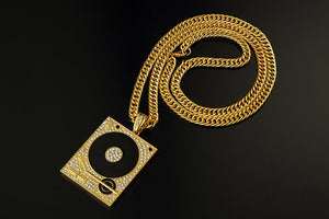 DJ Phonograph Big Chain Necklace
