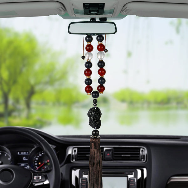 Lucky Pendant Mirror Hanging Car Decoration