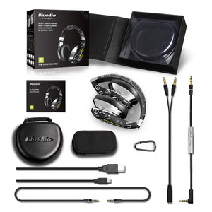 Bluedio Air Fashion Wireless Bluetooth Headphones with Microphone, HD Diaphragm, Twistable Headband, 3D Surround Sound