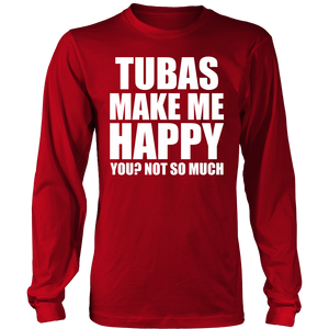 Tubas Make Me Happy - Trendy Gear-District Long Sleeve / Red / S-T-shirt - 6
