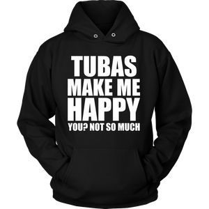 Tubas Make Me Happy - Trendy Gear-Hoodie / Black / S-T-shirt - 9