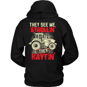 They See Me Strollin' They Haytin' - Trendy Gear-Hoodie / Black / S-T-shirt - 5