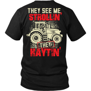They See Me Strollin' They Haytin' - Trendy Gear-District Unisex Shirt / Black / S-T-shirt - 1