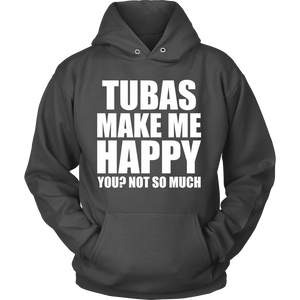 Tubas Make Me Happy - Trendy Gear-Hoodie / Charcoal / S-T-shirt - 10