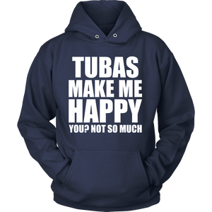 Tubas Make Me Happy - Trendy Gear-Hoodie / Navy / S-T-shirt - 11