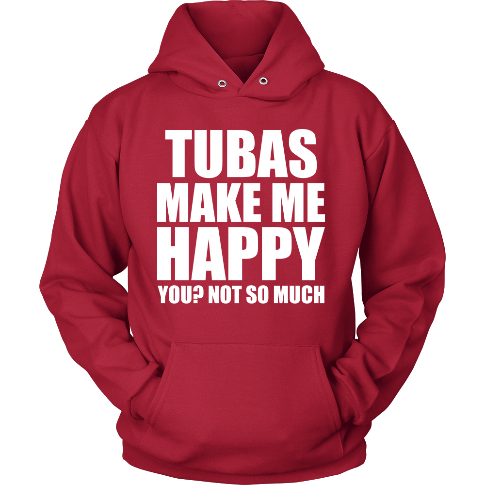 Tubas Make Me Happy - Trendy Gear-Hoodie / Red / S-T-shirt - 12