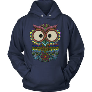 Owl Color - Trendy Gear-Hoodie / Navy / S-T-shirt - 10