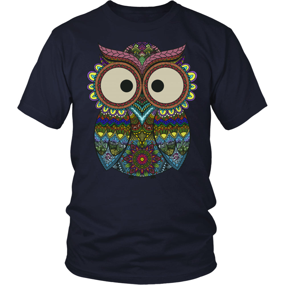 Owl Color - Trendy Gear-District Unisex Shirt / Navy / S-T-shirt - 2